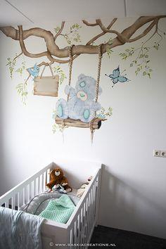 muurschildering tatty teddy me to you beertje www. Baby Boy Rooms, Baby Bedroom, Baby Room Decor, Baby Cribs, Nursery Room, Kids Bedroom, Nursery Decor, Kids Room Murals, Baby Girl Elephant