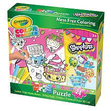 #shopkins Crayola Color Wonder Girls Puzzles - Shopkins