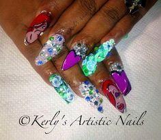Jessica Rabbit Inspired Nail Art Design by KerlysNails - Nail Art Gallery nailartgallery.nailsmag.com by Nails Magazine www.nailsmag.com #nailart