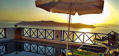 The Sunset on the balcony at Kaldera, Santorini Santorini, Balcony, Patio, Sunset, Outdoor Decor, Home Decor, Decoration Home, Room Decor, Balconies