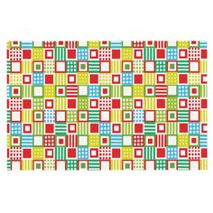 KESS InHouse Julie Hamilton 'Colorful Check' Checkered Dog Place Mat, 13' x 18' *** Quickly view this special  product, click the image (This is an amazon affiliate link. I may earn commission from it)