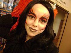 Lady Devil Make-up # Gesichts Make-up # Gesicht Make-up Frau # Frau Creative Makeup Looks, Simple Eye Makeup, Halloween Looks, Halloween Face Makeup, Halloween Ideas, Halloween Costumes, Halloween Party, Kids Makeup, Makeup Ideas