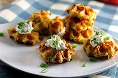 Loaded Potato Waffle Bites | 25 LIP SMACKIN' SUPER EASY SIDES!