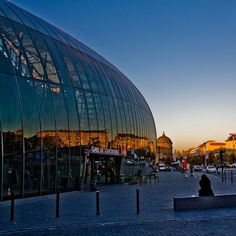 La Gare de Strasbourg, Strasbourg, France~the original railway station was erected in 1883, but the egg-shaped glass canopy was added in 2007