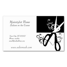 HairStylist Magic Scissors Business Card Template