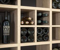 Platz für viel Wein... Weinregal - zusammengestellt mit dem Regalsystem BOON