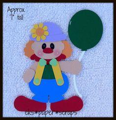 Birthday or Circus Clown Scrapbook Paper Piecing cks Paper Scraps | eBay