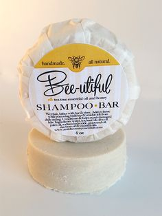 Bee-Utiful Shampoo Bar ~ All Natural Handmade with Real Tea Tree Oil & Honey
