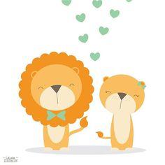 Un'esplosione di cuori per questa coppia di leoncini appena nata