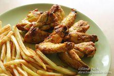 Alitas de pollo con aire marroquí