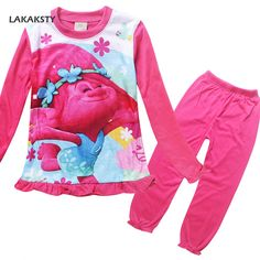 fae2c9686 Cheap clothing sets for girls, Buy Quality set for girls directly from  China girl pajamas set Suppliers: New TROLLS Girls Pajama Sets Spring  Cartoon Cotton ...