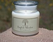 English Meadow Scented Soy Candle, Floral, 8oz 16oz 25oz - pinned by pin4etsy.com
