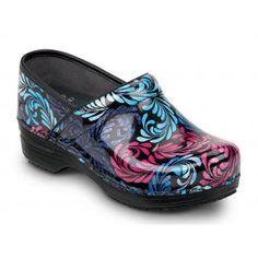 Dansko SDK710202 Women's Filigree Patent Leather, SR Max, Soft Toe, Slip Resistant Clog