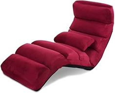 Giantex Folding Lazy Sofa Chair Stylish Sofa Couch Beds Lounge Chair W/Pillow (Burgundy) Sofa Couch Bed, Cushions On Sofa, Pillows, Sofa Blanket, Flannel Blanket, Stylish Chairs, Cool Chairs, Japanese Sofa, Laptop Desk For Bed