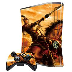 Cover Skin Stickers for 360S Game Console and Controllers with Mobile Game Heaven and Earth Figure Pattern