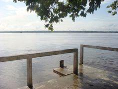 View from Bidarabu stelling during spring tides. Guyana