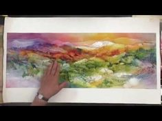 How to use Gauze in Your Watercolor Paintings - YouTube