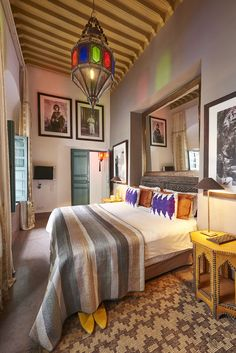 Discover Ryad Dyor, considered to be a top boutique riad in Marrakech. Ryad Dyor is a magical gem of tranquility amidst the hustle and bustle of the city. Riad Marrakech, Marrakesh, Suite Life, Gallery Wall, Boutique, Luxury, Bed, Room, Inspiration