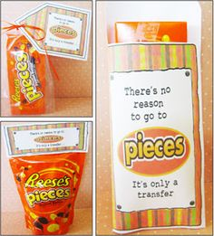 TONS of cute candy printables for missionaries, birthday ideas too-