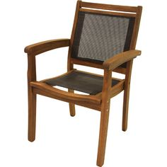 Found it at Wayfair - Sling and Eucalyptus Stackable Arm Chair