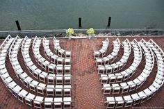 We did this at our wedding to increase visibility for guests during the ceremony.