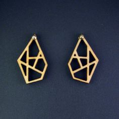 Plywood Abstract Diamonds Earrings // byanouk.tictail.com