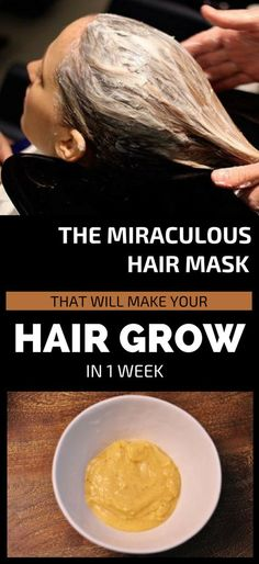 The Miraculous Hair Mask That Will Make Your Hair Grow In 1 Week If you are among those suffering from hair loss, well you don't have worry anymore. There is a natural remedy that can stop hair loss and make your hair grow faster. Diy Hair Care, Hair Care Tips, Dry Brittle Hair, Hair Breakage, Hair Follicles, Stop Hair Loss, Hair Loss Remedies, Hair Remedies For Growth, How To Make Hair