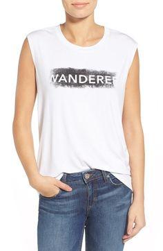 REBECCA MINKOFF 'Wanderer' Muscle Tee. #rebeccaminkoff #cloth #