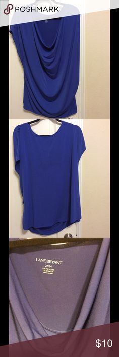 Plus size women's sleeveless blouse Color appears blue in the pic, but it is actually more of a blue-purple color.  Sleeveless.  Gently used. Lane Bryant Tops Blouses