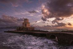 Fortress of the Dusk #doraartem - Methoni Castle in sunset. http://doraartem.wix.com/dora-landscapes