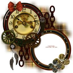 61Kim.png ❤ liked on Polyvore featuring steampunk, backgrounds, clocks, frame, borders and picture frame