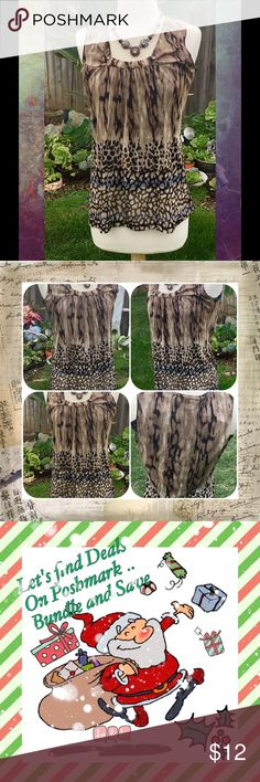 Loving Animal Print Black lining inside Blouse. Beautiful in Color Requirements Tops Blouses