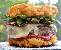 The funnel cake burger