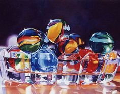 """Watercolor of Esther Melton, Marbles IOriginal Painting: 22""""h x 28""""w:"""