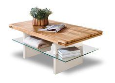 Feel - Konferenční stolek (dub/bílá)