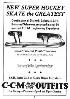 Vintage CCM skate ad