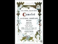 """'Before I Gaze At You Again' From """"Camelot"""" - By Alan Jay Lerner & Frederick Loewe - Performed By Julie Andrews Broadway Plays, Broadway Theatre, Broadway Shows, Stage Show, Stage Play, Broadway Posters, Theatre Posters, Movie Posters, Robert Goulet"""
