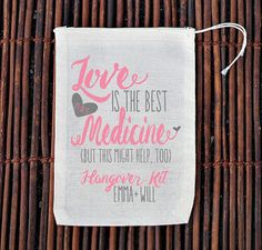 Love is The Best Medicine Hangover Kit Wedding Welcome by ilulily