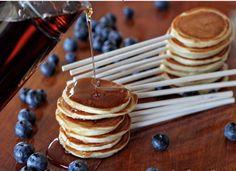 Mini Pancakes on a stick - theBERRY