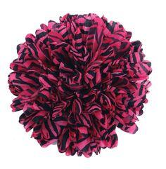 Zebra Print Hot Pink/Black Silk Mum