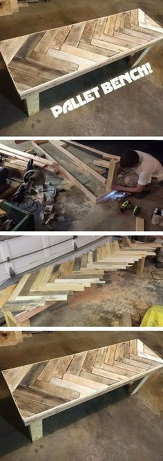 Check out the tutorial on how to make a DIY pallet bench @istandarddesign