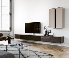 wall - Spectral Audio Möbel GmbH Audio remote location along with acoustic arrangements within the Tv Furniture, Living Room Furniture, Living Room Decor, Interior Design Living Room, Living Room Designs, Fireplace Tv Wall, Ikea Bookcase, Tv Wall Design, Audio Room