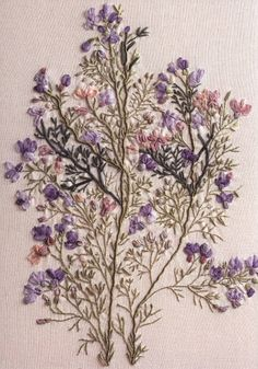 Blooming grass #ribbonEmbroidery