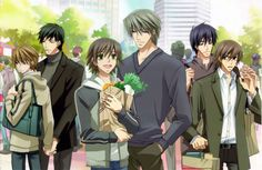 Junjou Romantica - [Shinobu & You (L) Misaki & Usagi (M) Hiro & Nowaki (R)]