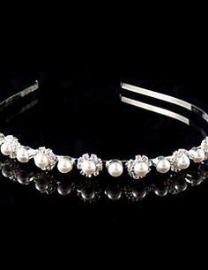 Women's/Flower Girl's Pearl/Rhinestone Headpiece - Wedding Headbands