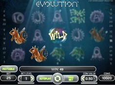 NetEnt have taken the creation of the world to a whole new level with Evolution. Dive into this ethereal and magical video pokies game featuring a wild symbol, scatter, free spins and futuristic looking creatures bobbing about to stunning, soothing background music.
