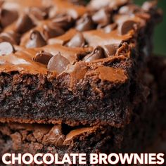 Brownie Recipe With Cocoa, Boxed Brownie Recipes, Brownie Recipe Video, Healthy Brownie Recipes, Beste Brownies, Fudgy Brownies, Vanilla Brownies, Homemade Brownies, Recipe For Moist Brownies