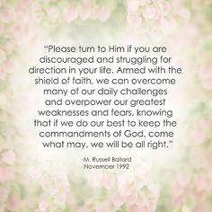 LDS Hope Quote | M. Russell Ballard http://sprinklesonmyicecream.blogspot.com/
