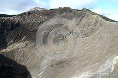 Inside volcano in Java Indonesia