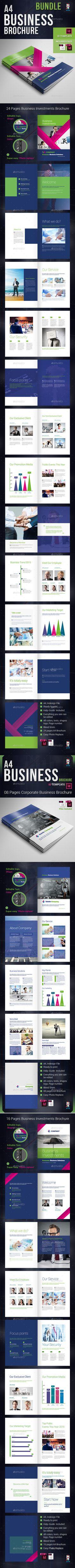 Corporate Business Investment Brochure Templates InDesign INDD Bundle #design Download: http://graphicriver.net/item/corporate-business-investment-brochure-bundle/13508983?ref=ksioks